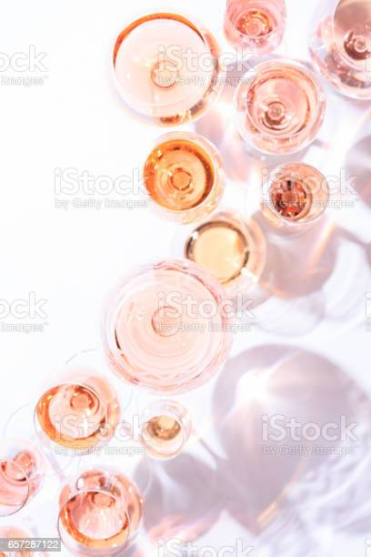 Many glasses of rose wine at wine tasting concept of rose wine and picture id657287122?b=1&k=6&m=657287122&s=612x612&h=ihaaf8nrrtc6nhgctzc5luca1bidhiutqs7642g1z e=