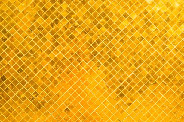 Viele goldglänzende Quadrate Oberfläche – Foto