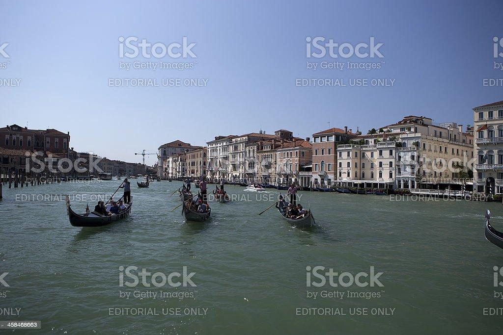 Many Gondolas royalty-free stock photo