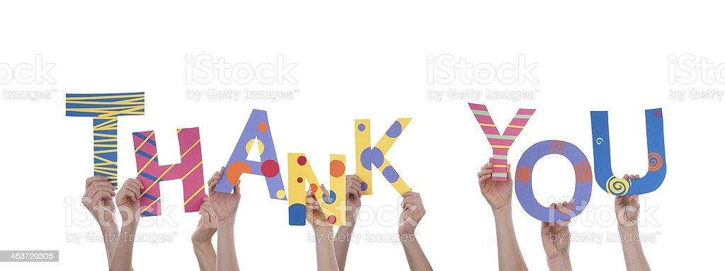 Viele Hand Holding Vielen Dank – Foto