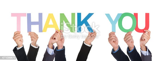 istock Many Hands Holding The Word Thank You 471099870
