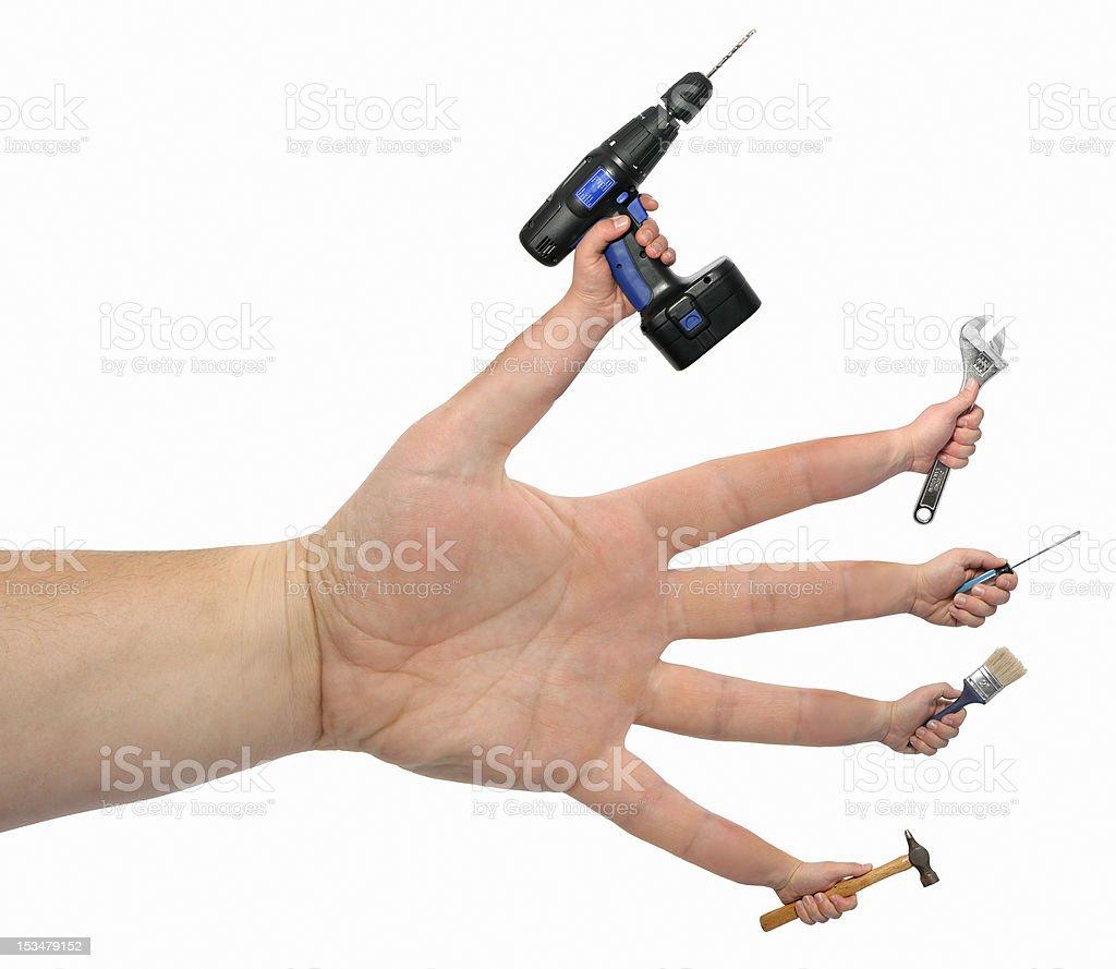 Many Hands Make Light Work! royalty-free stock photo