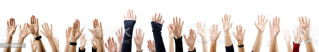 Many hands royalty-free stock photo