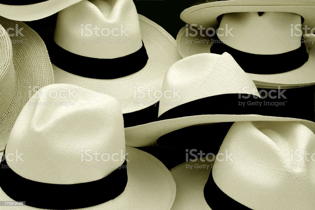 Many hats stock photo