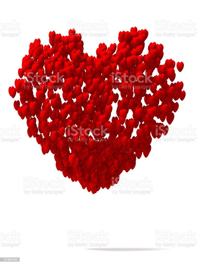 Many hearts royalty-free stock photo