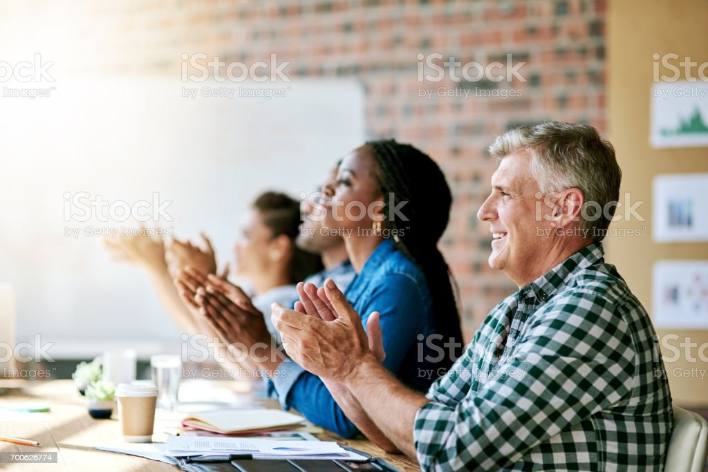 Many helpful points have been discussed! stock photo