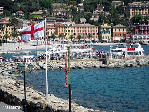 Many hundreds of tourists and locals take the Ferry and tour boats regularly and arrive and depart from this Santa Margherita pier