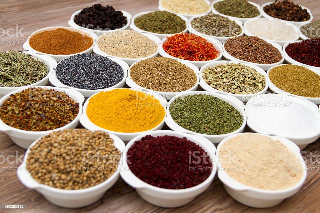 many kind of spices royaltyfri bildbanksbilder