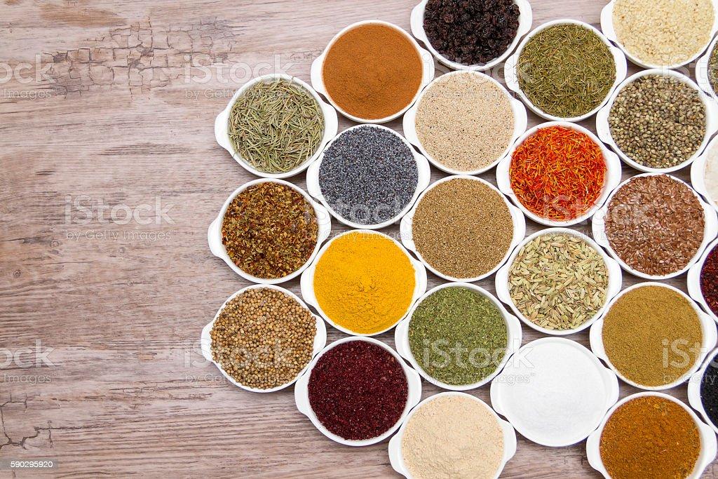 many kind of spices Стоковые фото Стоковая фотография