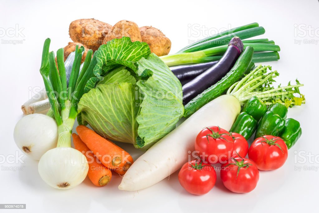Many kinds of vegetables stock photo