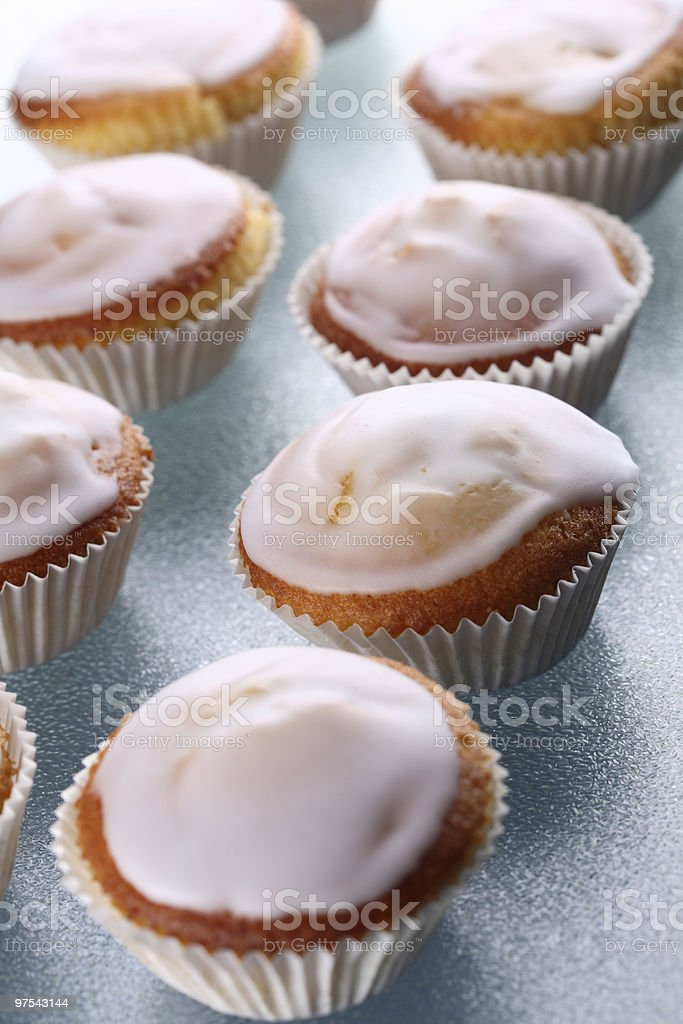 Many Lemons Muffins Top royalty-free stock photo
