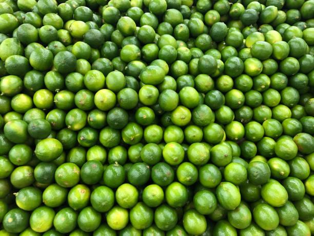 Many limes stock photo