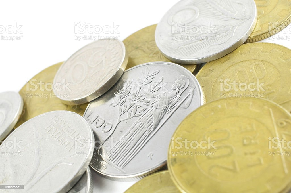 many liras coins royalty-free stock photo
