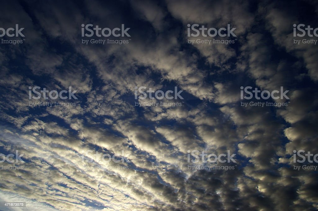 Many little clouds royalty-free stock photo