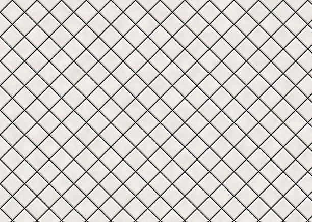 Many Matt Light Square Ceramic Tile Pattern Texture Stock Photo