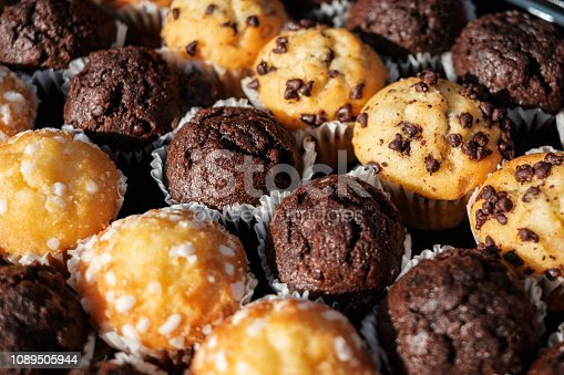 istock many mini muffins on dessert buffet - muffin closeup - 1089505944