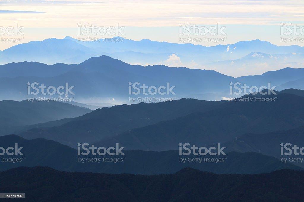 many mountain ranges stock photo