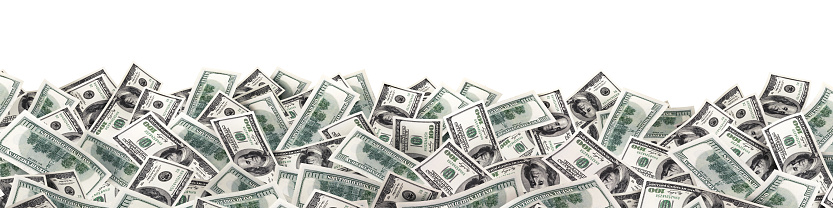 istock many much money on white background. wide image 963534180
