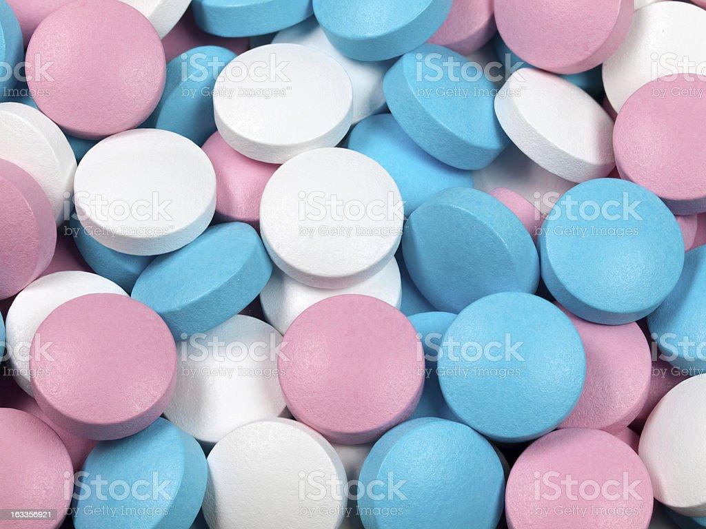 Many multi-coloured pills. royalty-free stock photo