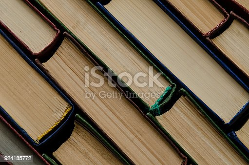 istock Many old books, top view, like background 924185772