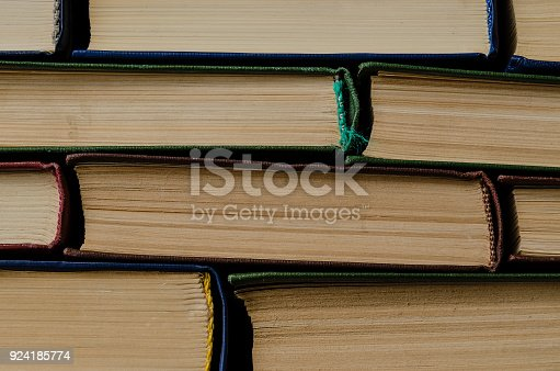 istock Many old books, top view, like background 924185774