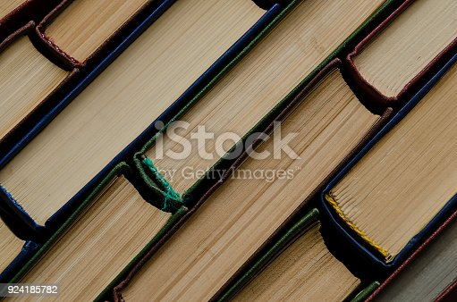 istock Many old books, top view, like background 924185782