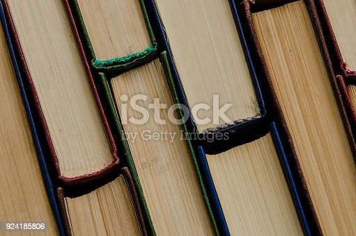 istock Many old books, top view, like background 924185806