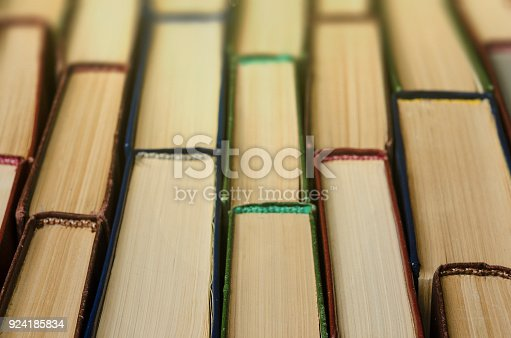 istock Many old books, top view, like background 924185834