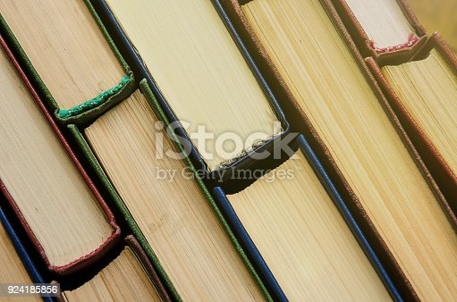 istock Many old books, top view, like background 924185856