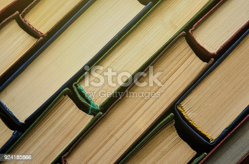 istock Many old books, top view, like background 924185866