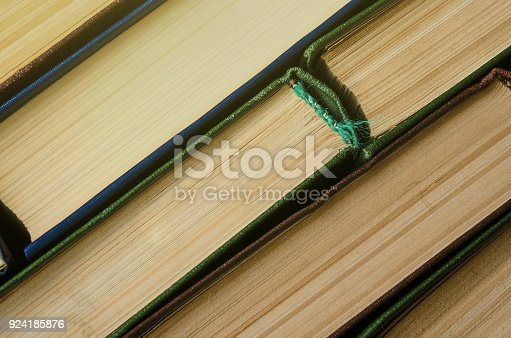 istock Many old books, top view, like background 924185876