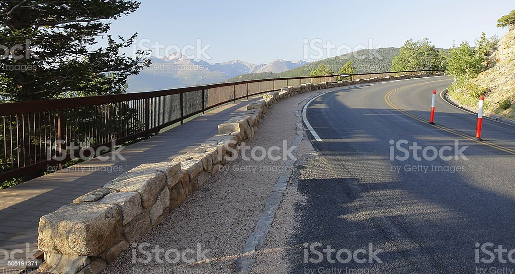 Many Parks Curve Overlook in Rocky Mountain National Park, Colorado royalty-free stock photo