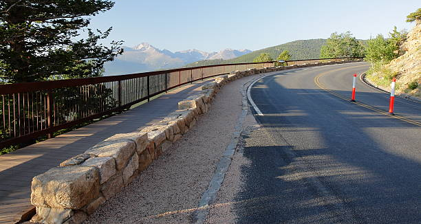 Many Parks Curve Overlook in Rocky Mountain National Park, Colorado stock photo