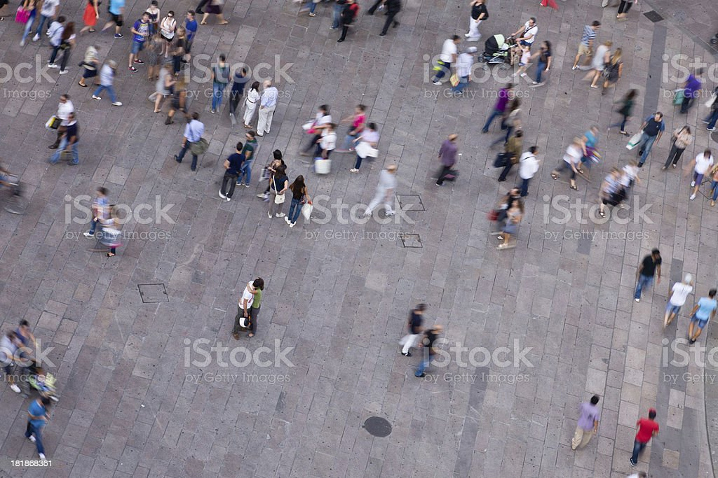 Many People on a Pubilc Place stock photo