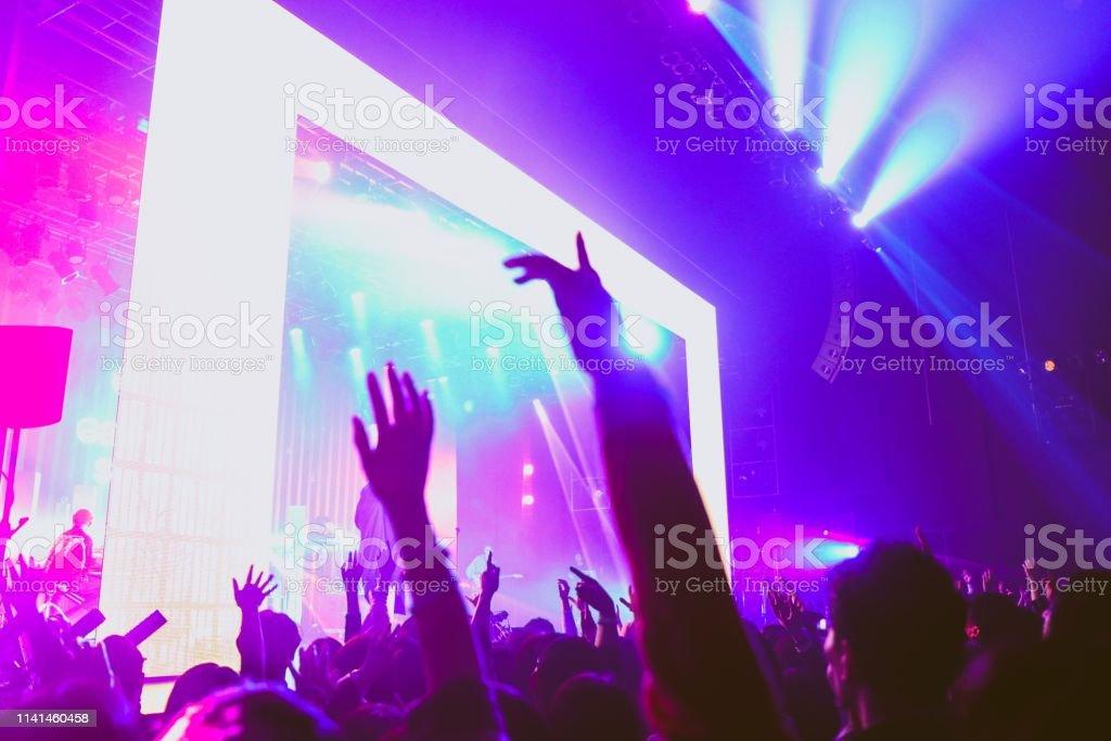 Many people enjoy the Music festival