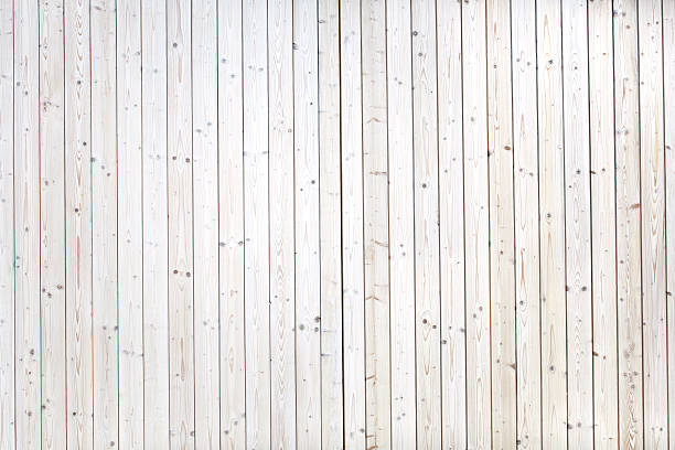 Many perfect white planks stock photo