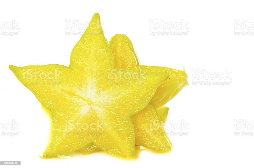 Many pice ofStar apple royalty-free stock photo