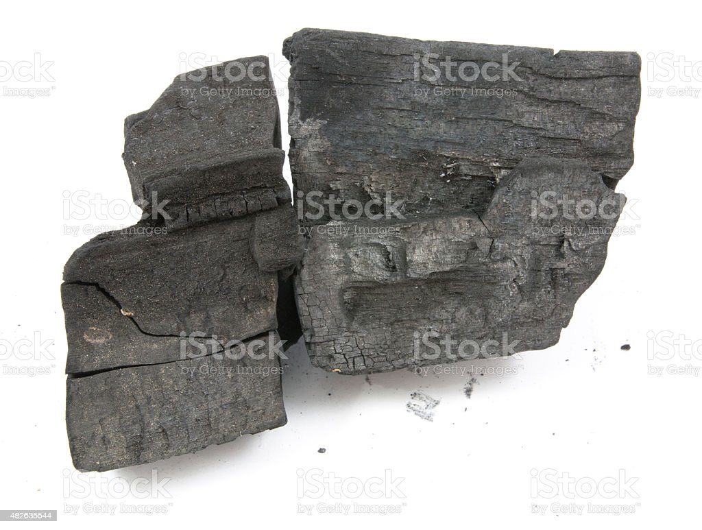 many pieces of charcoal stock photo