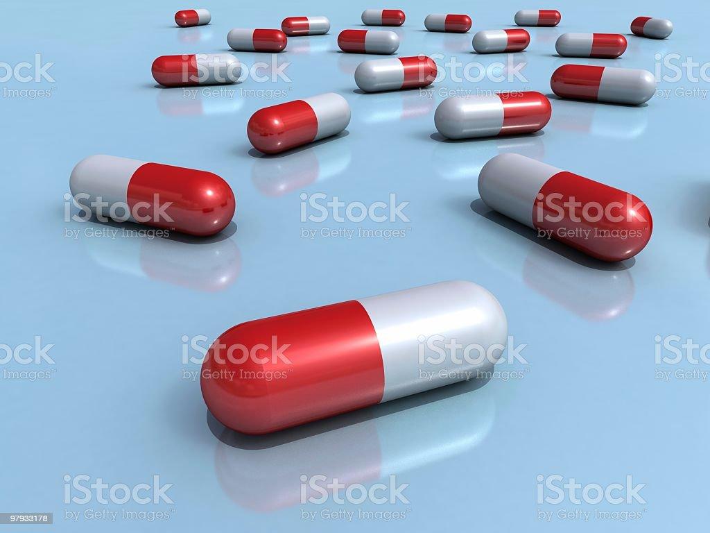 Many pills 2 royalty-free stock photo