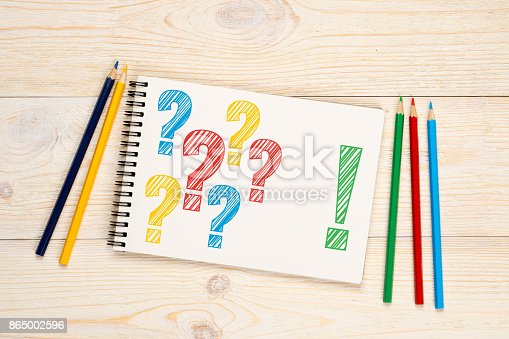istock many questions one answer concept 865002596