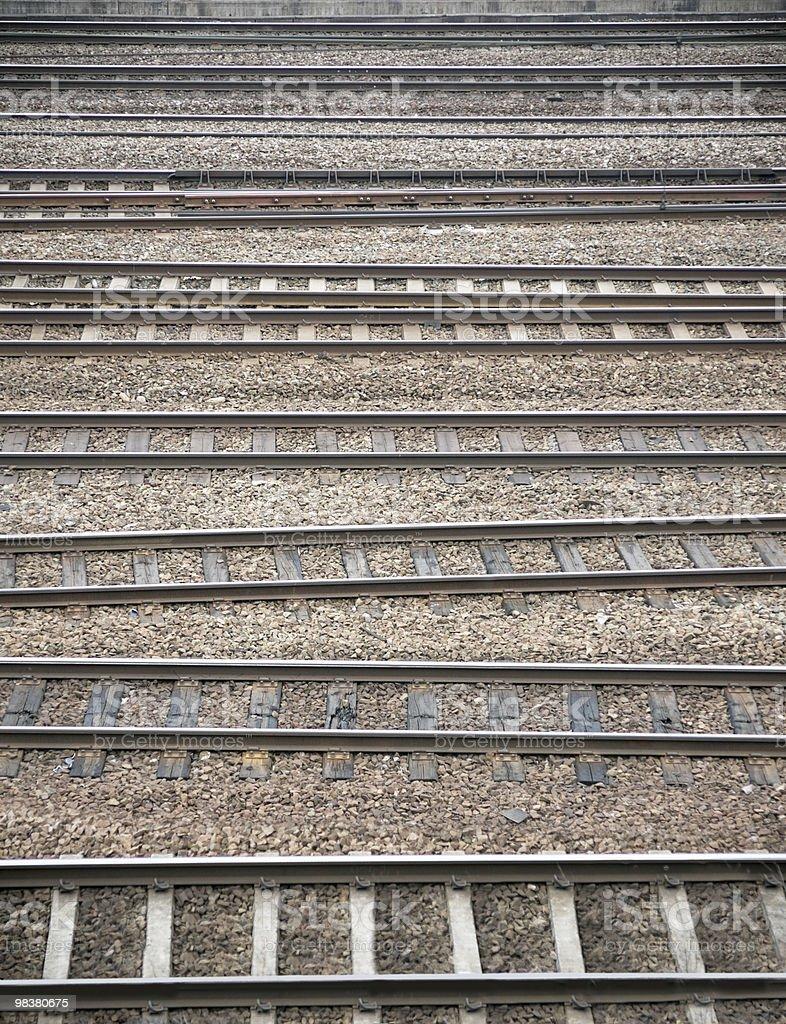 many railroad tracks royalty-free stock photo