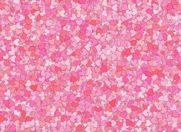 Pintura Rosa Rojas Y Corazones Fondo De Pantalla Completa