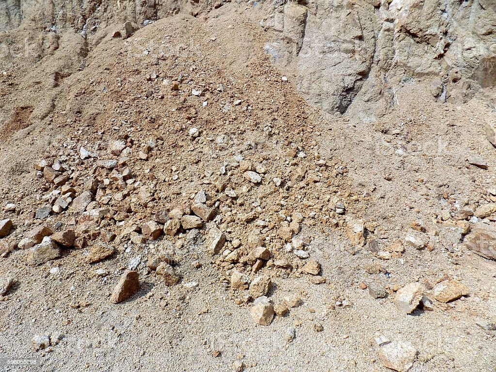 Many rocks in stone pit royalty-free stock photo