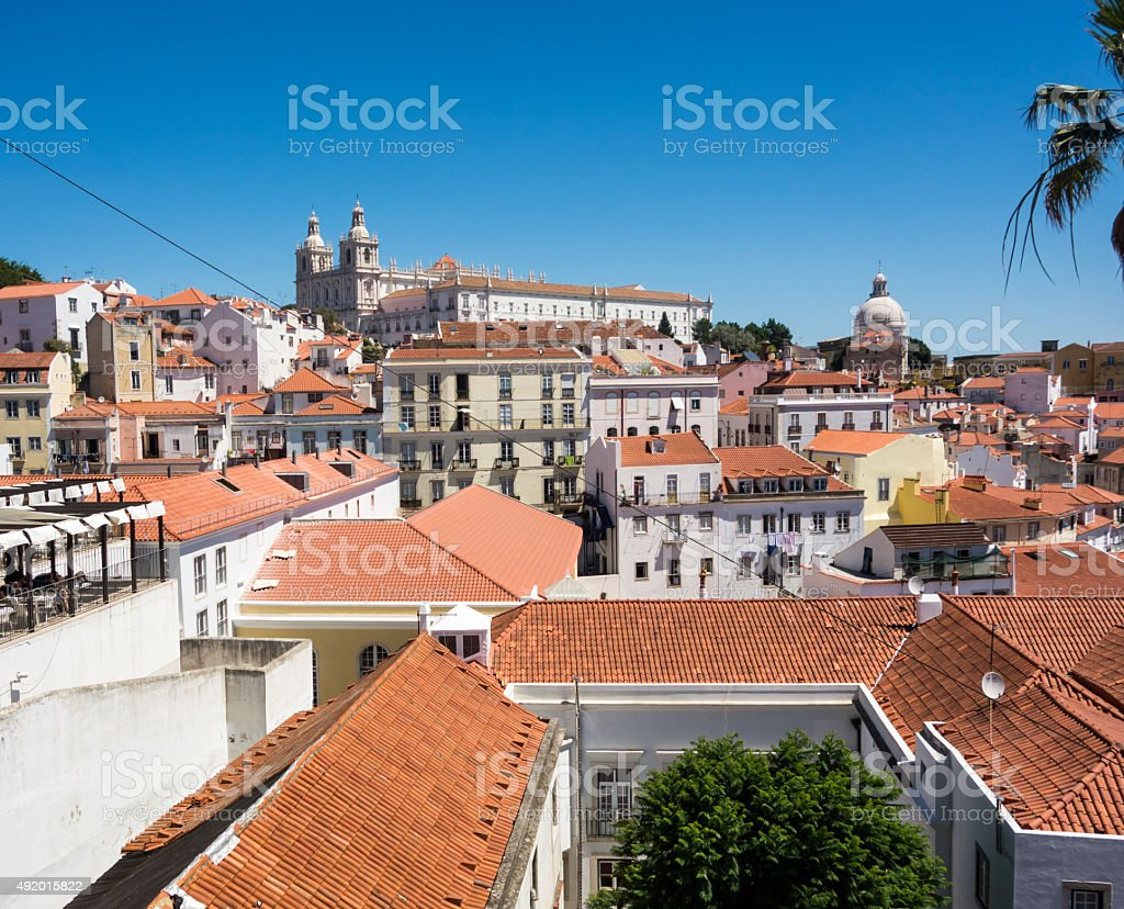 Many roofs stock photo