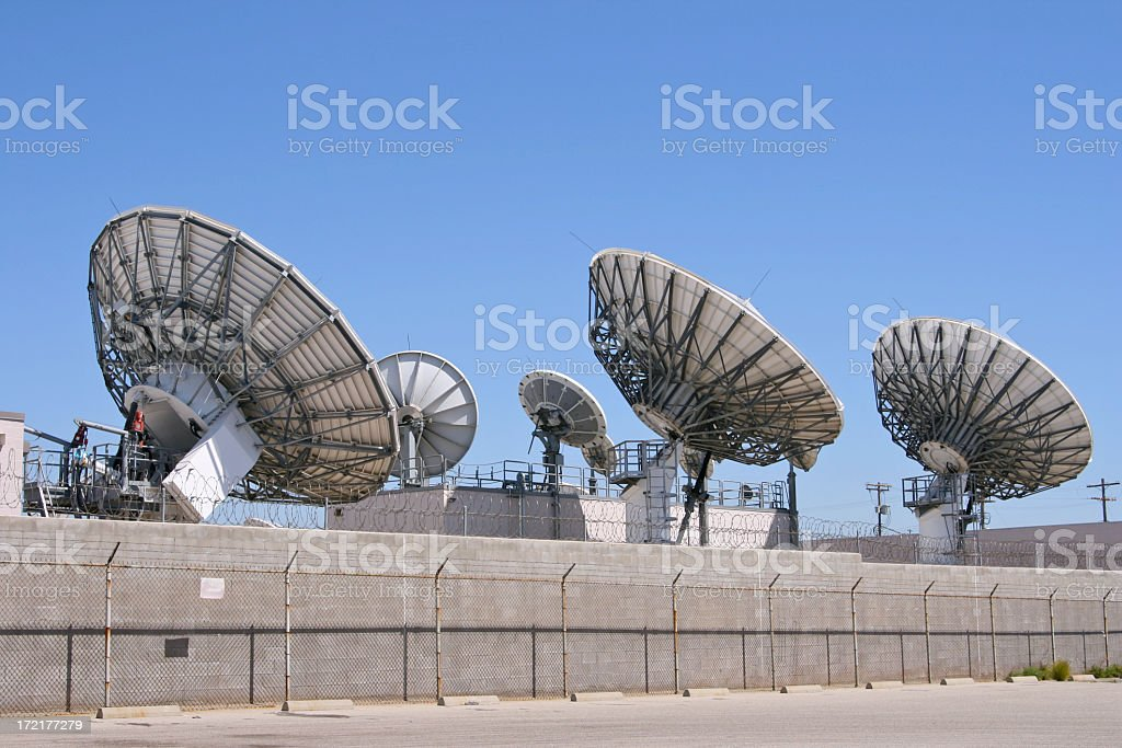 Many Satellites royalty-free stock photo