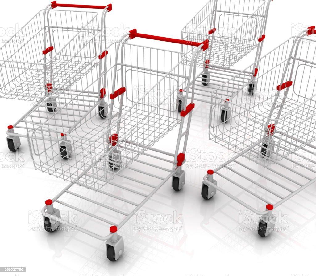 Viele Warenkörbe - Lizenzfrei Abstrakt Stock-Foto