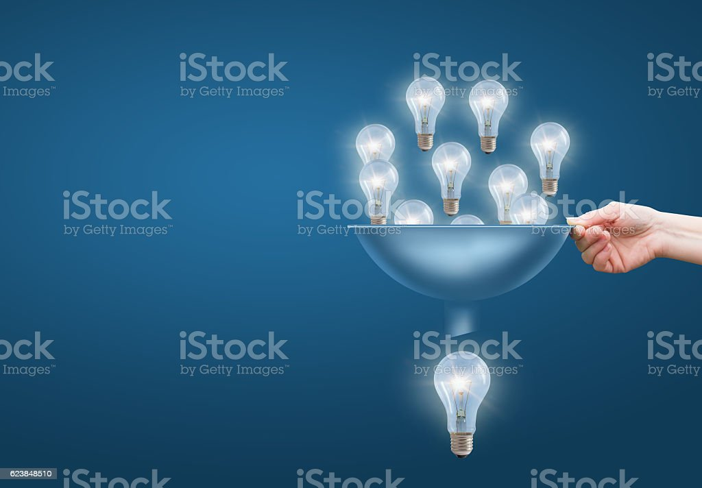 Many small ideas add up to a big one. stock photo