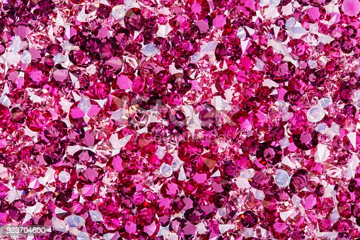 istock Many small ruby and diamond stones, luxury background 923704600