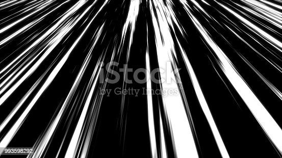 istock Many speed lines, computer generated abstract background, 3D render 993598292