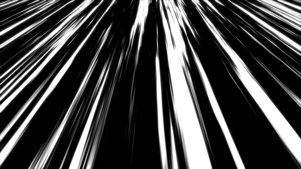 many speed lines, computer generated abstract background, 3d render - manga style stock photos and pictures
